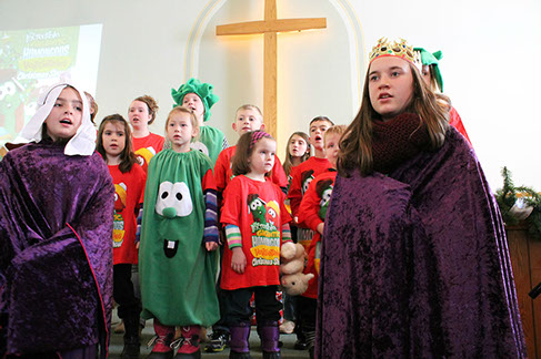 Children Acting Christmas Play