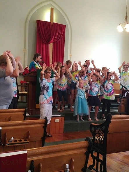 Children Singing Song with Actions